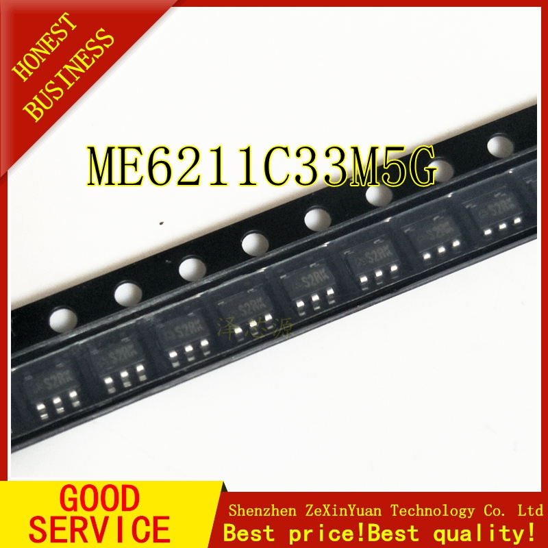 Free Shipping 10pcs/lot ME6211C33M5G ME6211 3.3V SOT23-5 New And Original In Stock