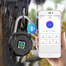 TOWODE Bluetooth empreinte digitale déverrouiller porte cadenas Portable maison intelligente étanche serrure sans clé USB APP contrôle Android IOS téléphone