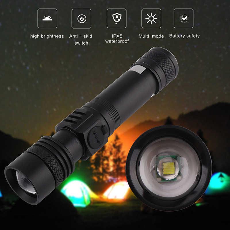 Mächtigsten Led Taschenlampe Ultra Helle Linterna Led-taschenlampe T6 Zoomable Fahrrad Licht Verwenden AAA 18650 Batterie Wasserdicht