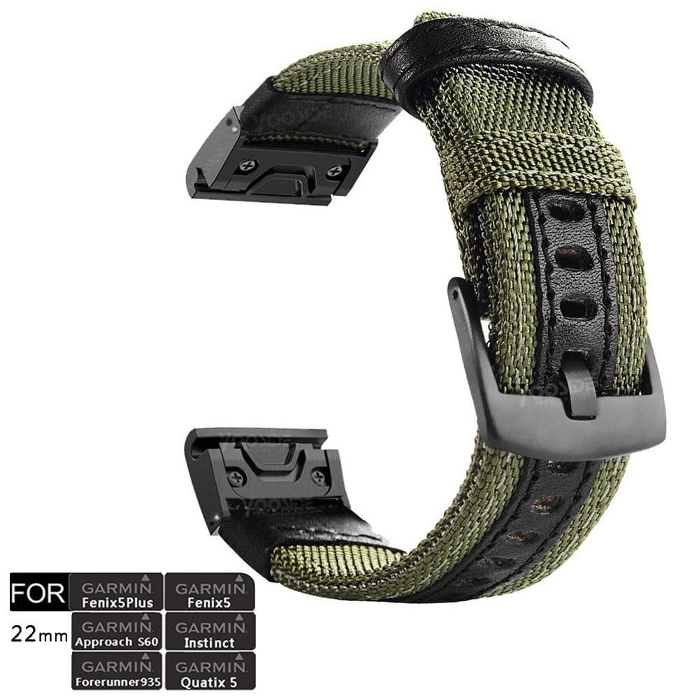 Fenix 6 Pro Sapphire Wristband QuickFit 22mm NOTA Durable Watch Band Strap for Garmin Fenix 5X Quatix 5 Forerunner 935 Instinct