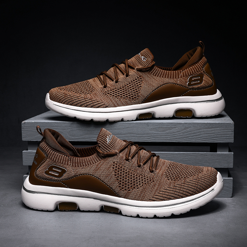 Men Shoes Jogging Sneakers For Men Summer Mesh Casual Sport Sock Shoes Lace-up Outdoor Running Shoes Man Skecher Basket Shoes