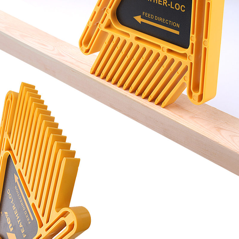 Multi-purpose Feather Loc Board Set Woodworking Engraving Machine Double Featherboards Miter Gauge Slot Woodwork DIY tools (Yellow)