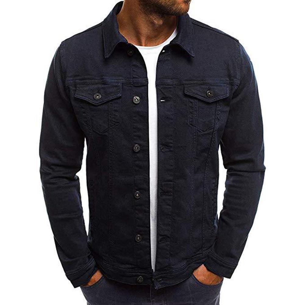 2019 Men's Denim Jacket High Quality Cowboy Men's Jeans Jacket Men Casual Slim Streetwear Men Baggy Jean Bomber Jacket Clothing
