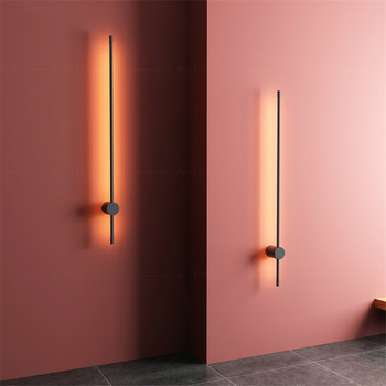 Nordic Minimalist LED Wall Lamp Modern Creative Simple Living Room Home Decor Sofa Background Wall Light Bedroom Bedside Lamps