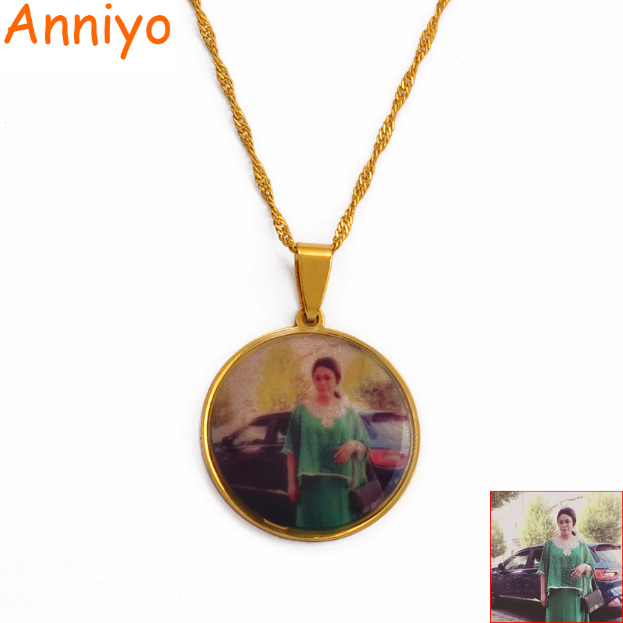 Custom Made Photo Medallions Pendant Necklaces for Women Girls Personalized pictures Jewelry Customize Gifts