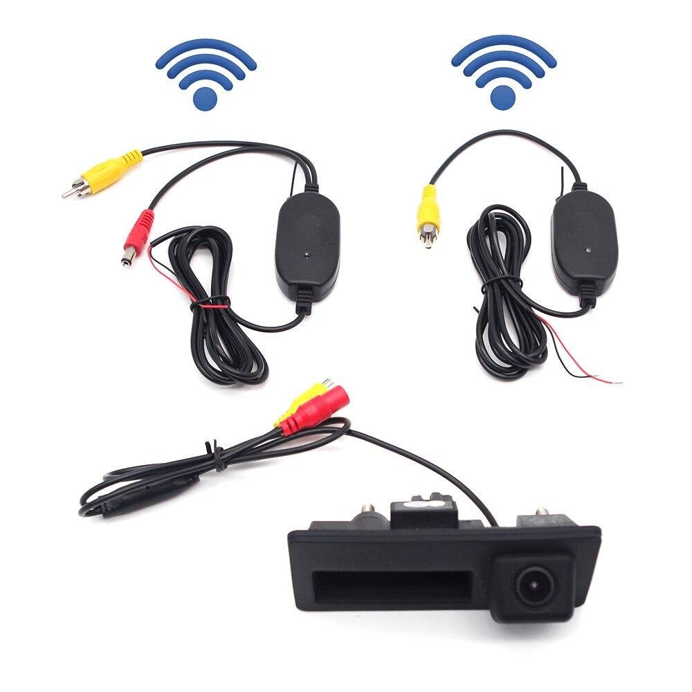 Проводной/беспроводной чехол для камеры заднего вида с ручкой багажника для Audi/VW/Passat/Tiguan/Golf/Touran/Jetta/Sharan/Touar