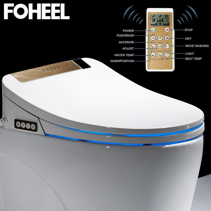 LCD 3 Color Intelligent Toilet Seat Elongated Electric Bidet Cover Smart Bidet Heating Sits Led Light Wc