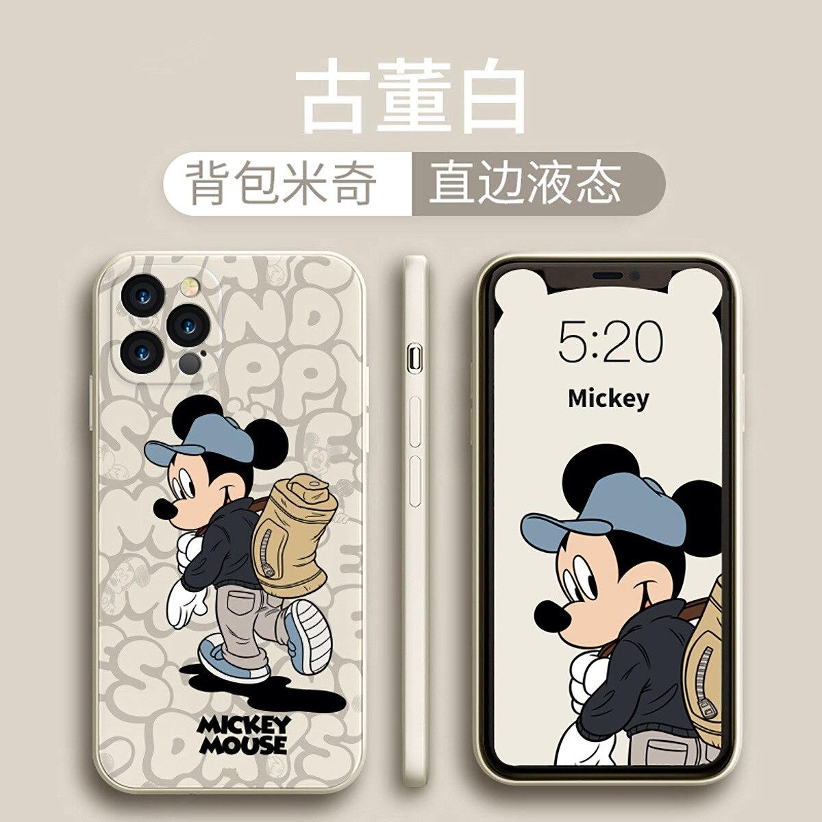 2021 disney mickey minnie para iphone 6/7 plus xr xs max 11/12pro max 12mini caso de telefone casal menina kawayi