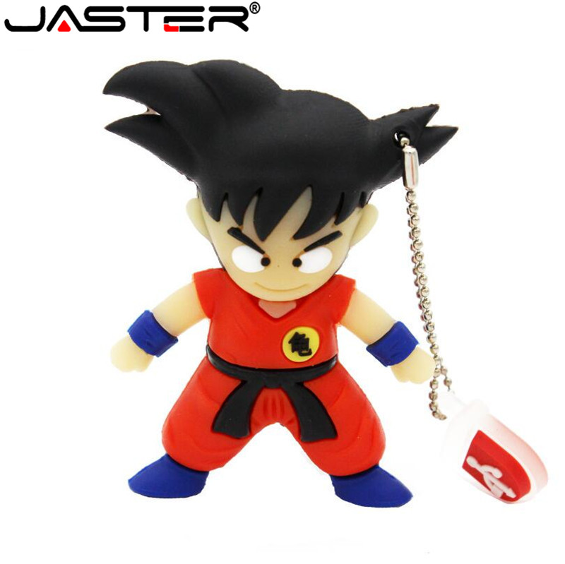 JASTER Hot Pen Drive Cartoon Dragon Ball Goku Son Gift Usb Flash Drive Pendrive 4gb 16gb 32gb 64gb Mini Keychain Free Shipping