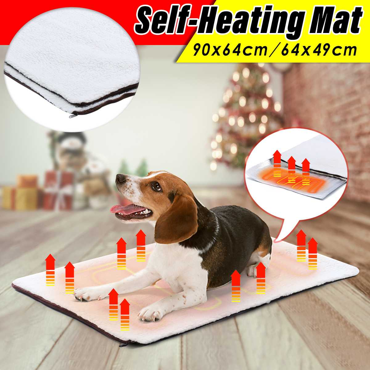 Washable Self Heating Dog Cat Blanket Pet Bed Thermal No Electric Blanket Super Soft Puppy Cat Blanket Beds Mat