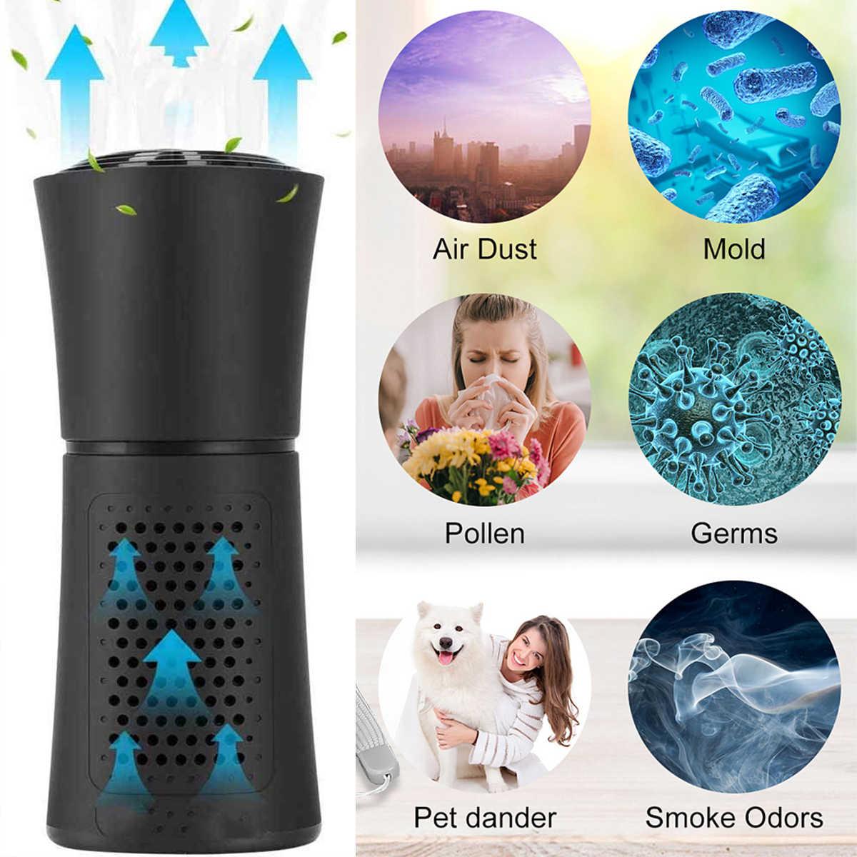 Purificateur d'air 360 degrés | Générateur d'ion négatif avec feuille d'arôme, désodorisant d'air désodorisant, voiture USB tuer les bactéries, purificateur d'air