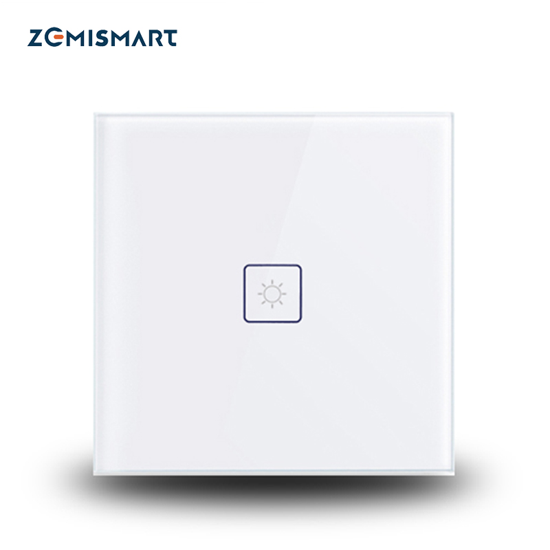 Zemismart EU Zigbee 3.0 Switch for Smartthings Echo Plus 1 gang Wall Mount Touch Light Switch