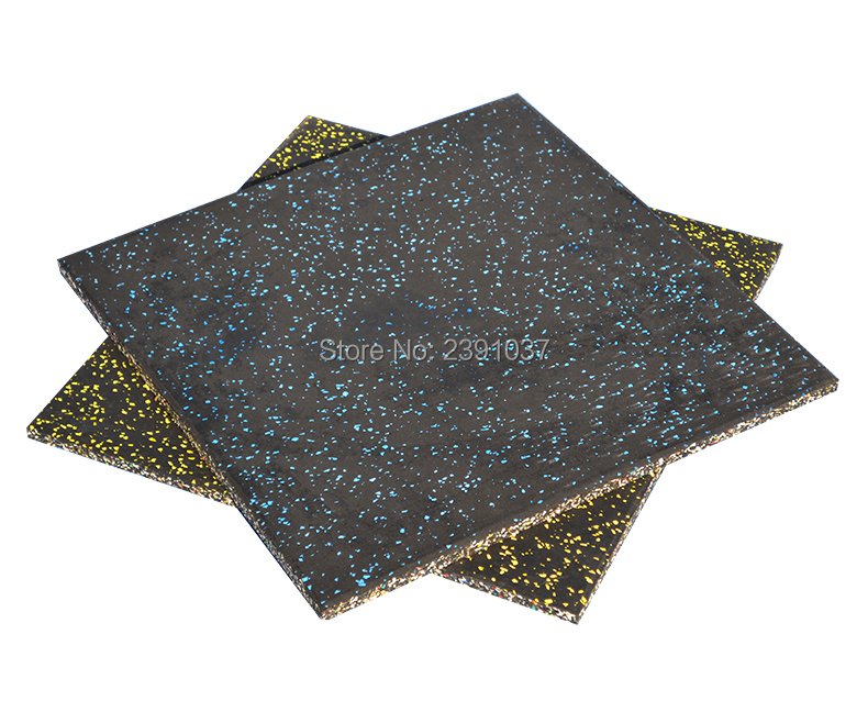 Eco-friendly 50x50cm Thickness 1.5cm Gym Rubber Mats Home/Commercial Gym Garage Heavy Duty Rubber Extra Thick Mat Flooring Tile