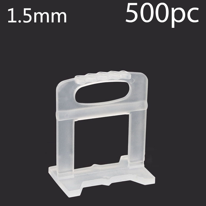 500pcs 1.5mm Tile Leveling System Clip Kit Wall Floor Tiling Spacer Tool