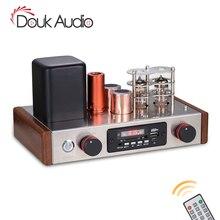 Douk áudio hifi aspirador pré amplificador bluetooth receptor estéreo classe a desktop áudio pré amplificador usb música player tubo rádio fm
