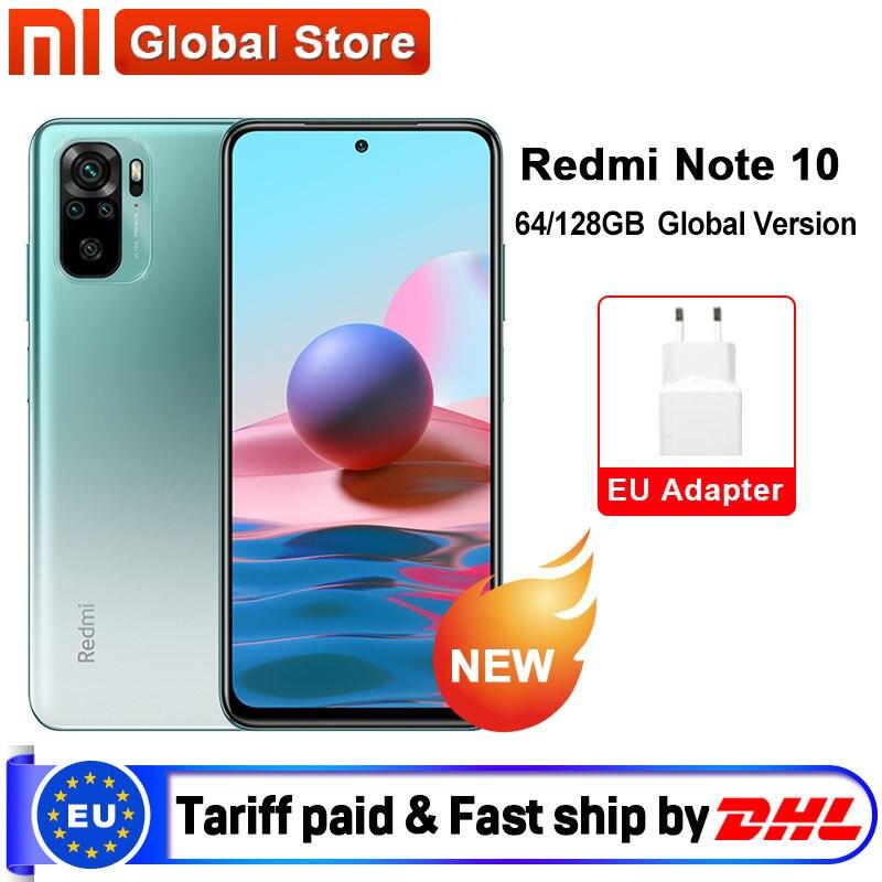 W magazynie wersja globalna Xiaomi Redmi Note 10 4GB 64GB/4GB 128GB/6GB 128GB Smartphone Snapdragon 678 33W wyświetlacz AMOLED 48MP