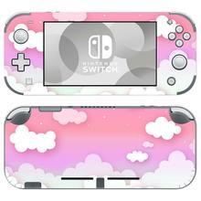 Różowa biała chmura NintendoSwitch skórka naklejka naklejka pokrywa dla Nintendo Switch Lite Protector przełącznik do Nintendo Lite skórka naklejka