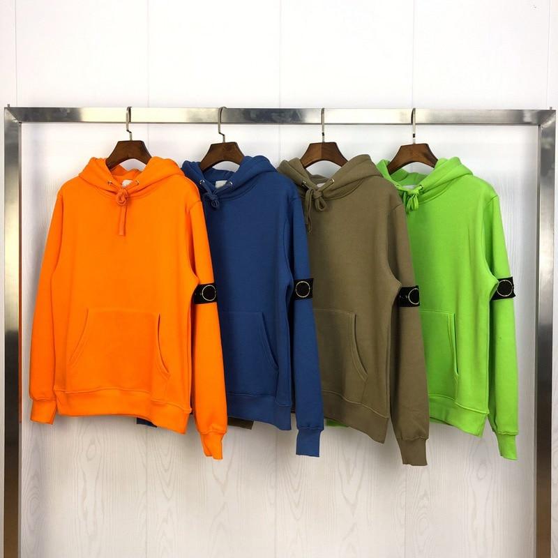 2019 Best Version 1:1 Compass Logo Patched Women Men Solid Hoodie Sweatshirts Hiphop Streetwear Men Loose Hoody Hoodi Pullover
