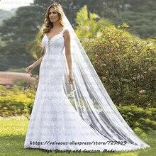 Szata mariage sąd pociąg suknia ślubna Vestido de Noiva 2020 suknia dla panny młodej Sexy koronki syrenka suknia ślubna Vestido De Noiva Sereia