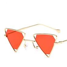 Fashion Unisex Steampunk Triangle Irregular Frame Sunglasses Glasses High Qualuty Vintage Retro Style Metal Shades