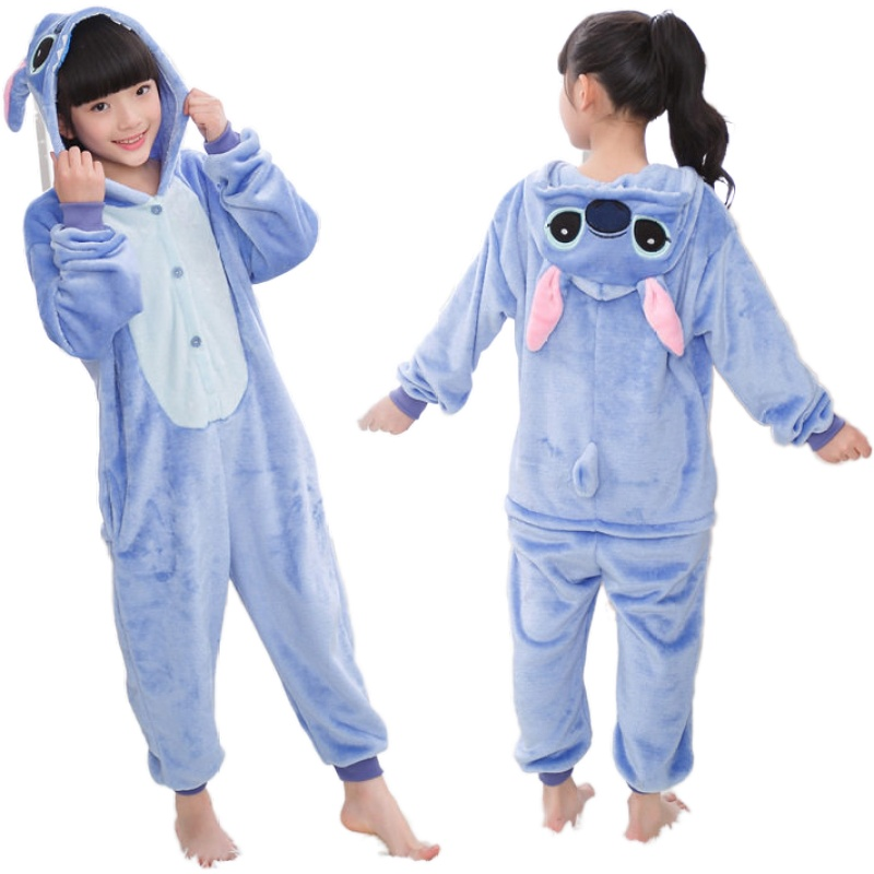 Kigurumi point enfants pyjamas licorne pyjamas pour enfants Animal dessin animé couverture bébé Costume hiver garçon fille enfants vêtements de nuit