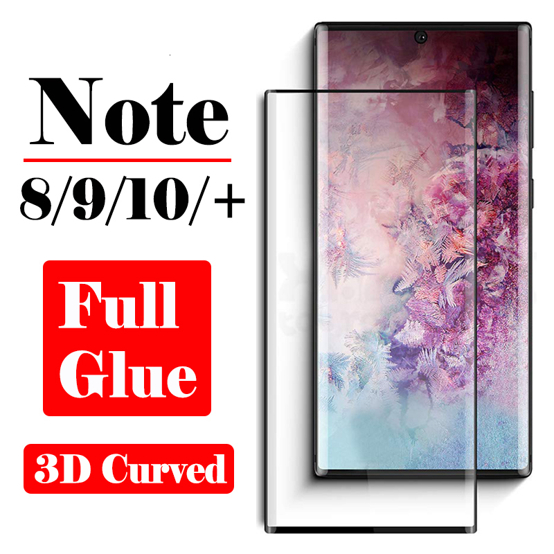 Full Adhesive Glue Note 10 Pro Protective Glass On For <font><b>Samsung</b></font> Note9 8 Screen Protector 3D <font><b>Galaxy</b></font> Note10 Plus Tempered Glas Film image