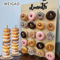 WEIGAO Donut Wall Stand Donut Birthday Decoration Doughnut Display Holder Party Supplies Wedding Decor Table Baby shower Bride