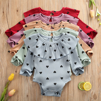 Cute Newborn Baby Girls Romper Clothes Princess Dot Long Sleeve Party Kids Infant Jumpsuit Autumn Spring Cotton Toddler Clothing newborn baby girls princess romper toddler kids long sleeves jumpsuit clothes children cotton lace playsuit pink yellow clothing