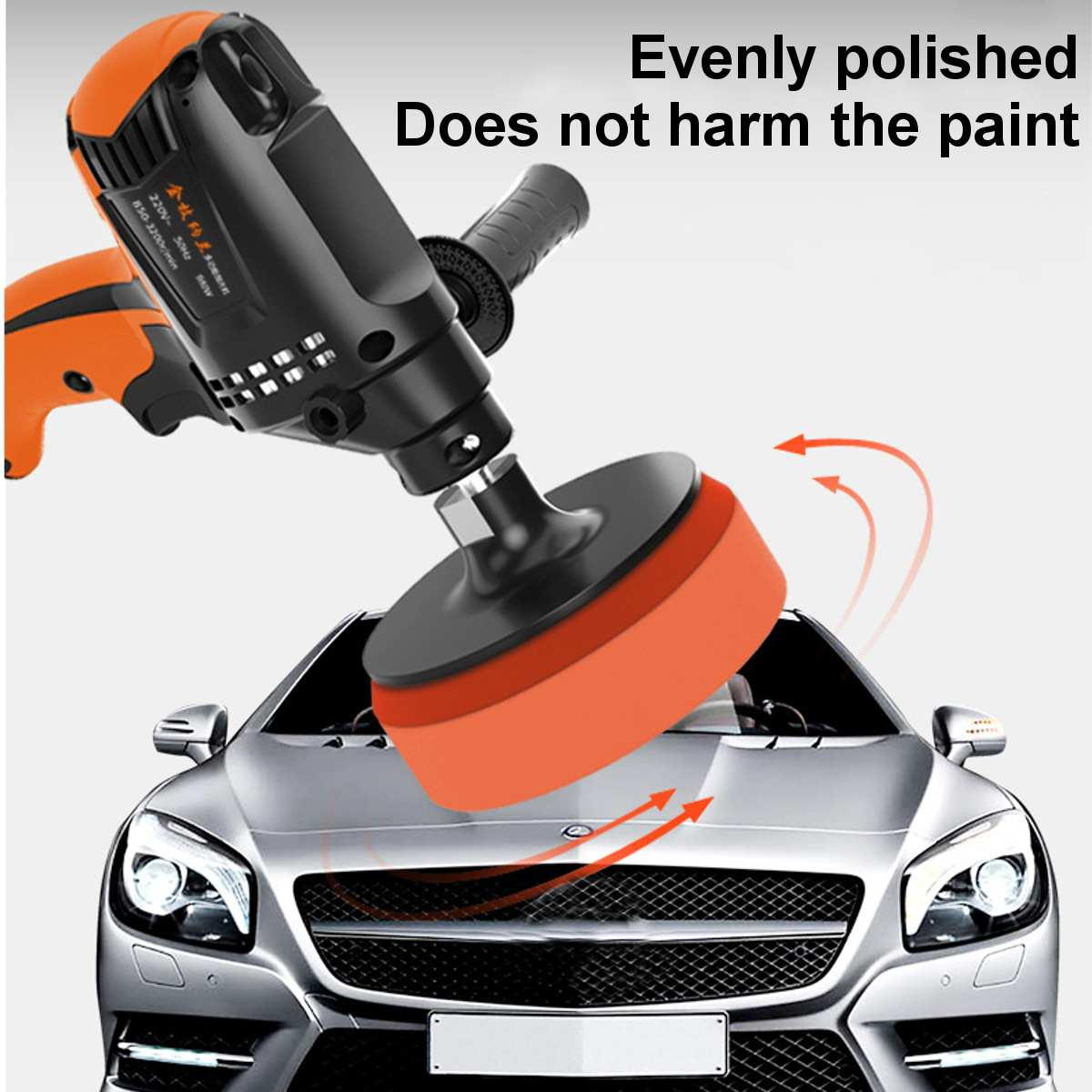 Tools : 980W Six Gears Car Polishing Machine Car Polisher Angle Grinder Other Tools Grinding Machine Electric Sander Adjustable Speed