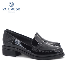 Купить с кэшбэком VAIR MUDO New Fashion Genuine Leather Women Shoes Elegant Round Toe Comfortable Pigskin Inside Lady Leisure Shoes D3