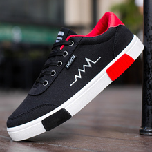 new Men Shoes Casual Canvas Lightweight Lace Up Sneakers Breathable jogging Skateboard Men Flats Slip Shoes Male Footwear
