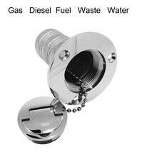 38mm de aço inoxidável 316 barco marinha deck enchimento gás diesel combustível waste water espelho polonês iate ferragem