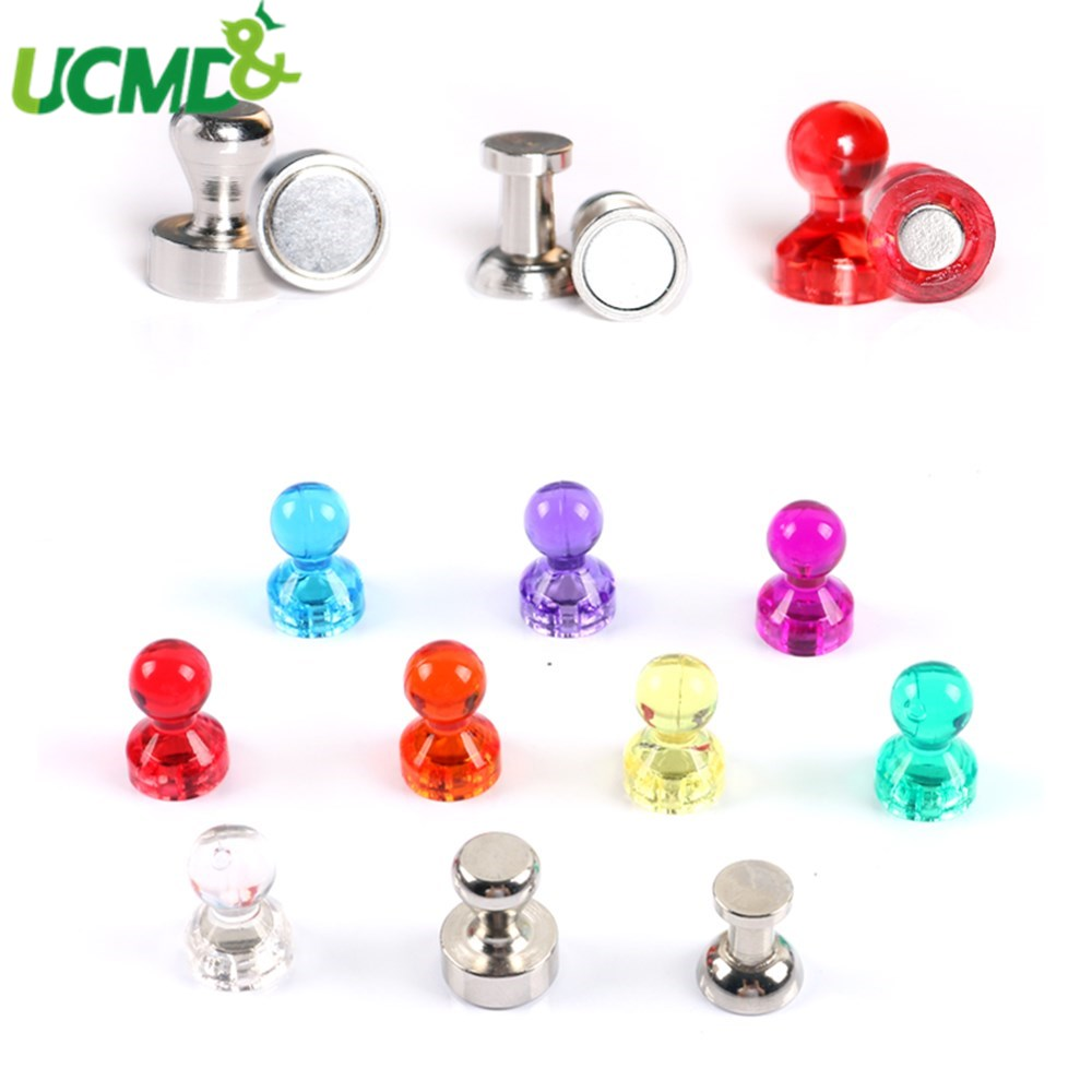 4Pcs Neodymium Round Magnetic Thumbtacks Pin Whiteboard Blackboard Noticeboard Fridge Magnets For Home Office Magnetic Button