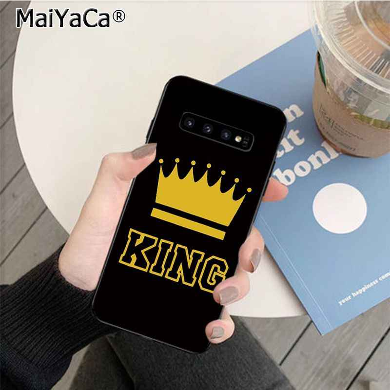 MaiYaCa 王と女王のカップルクラウンソフト黒電話ケース xiaomi 8 9 se Redmi 6 プロ 6A 4 × 7 注 5 7 カバー