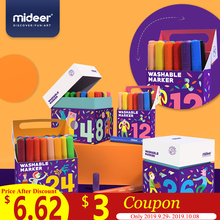MiDeer 12/24/36/48PCS Colors Drawing Painting Watercolor Art Marker Pens Tip Brush Washable Pen Supply