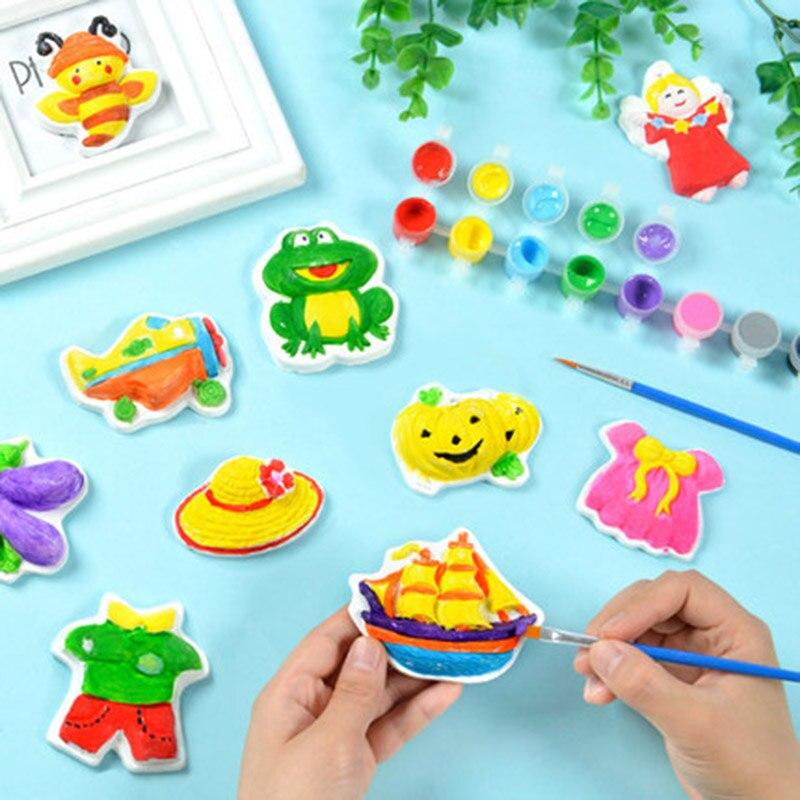 criancas pintura de gesso brinquedos diy coloracao pintados graffiti conjuntos bebe artesanal colorido material de pintura