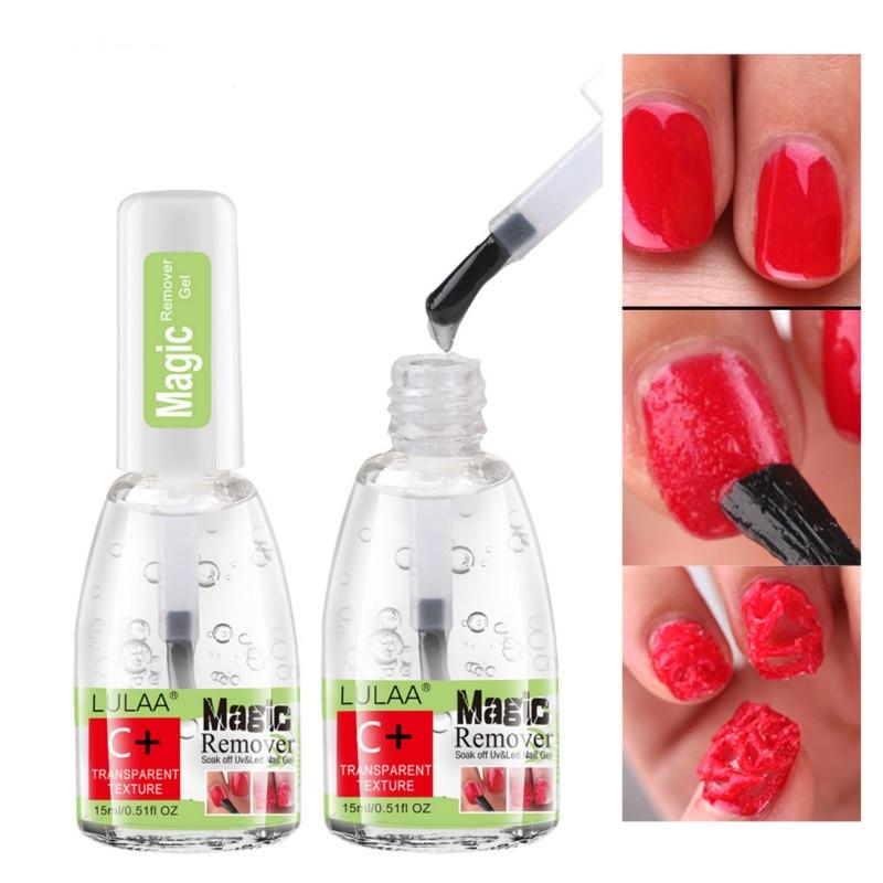 15 мл гели для ногтей Очиститель быстро разрыва жидкого UV гель био-Гели Soak Off липкий Слои Маникюр магии жидкость для снятия лака обезжиривающ...