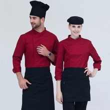Hotel Chinese Restaurant Cafe After Hutch Smock Qiu Dong Long Sleeve Chef Restaurant Teppanyaki Gxc6028