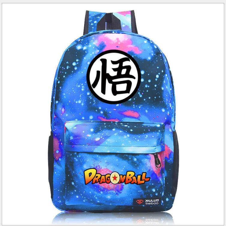 Mochila Dragon Ball Z Backpack Goku Super Saiyan Boy's Girl's Backpack For Teenagers School Bags Galaxy Capacity Travel Bag