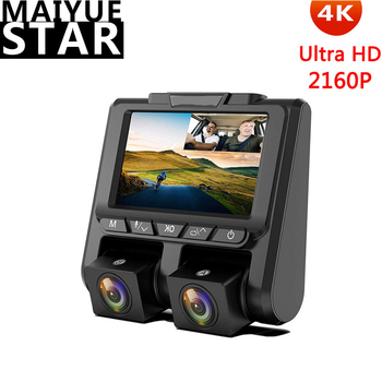 Maiyue star 4K 2160P + 1080P Автомобильный видеорегистратор 3 дюйма сверхвысокой четкости с двумя объективами sprint cam ночное видение мониторинг парковки