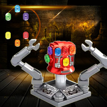 Building Blocks Avengers 4 Infinity Gauntlet With Power Stones Thanos Gloves Vision Bricks figure For children Gift Toys XH1361(China)