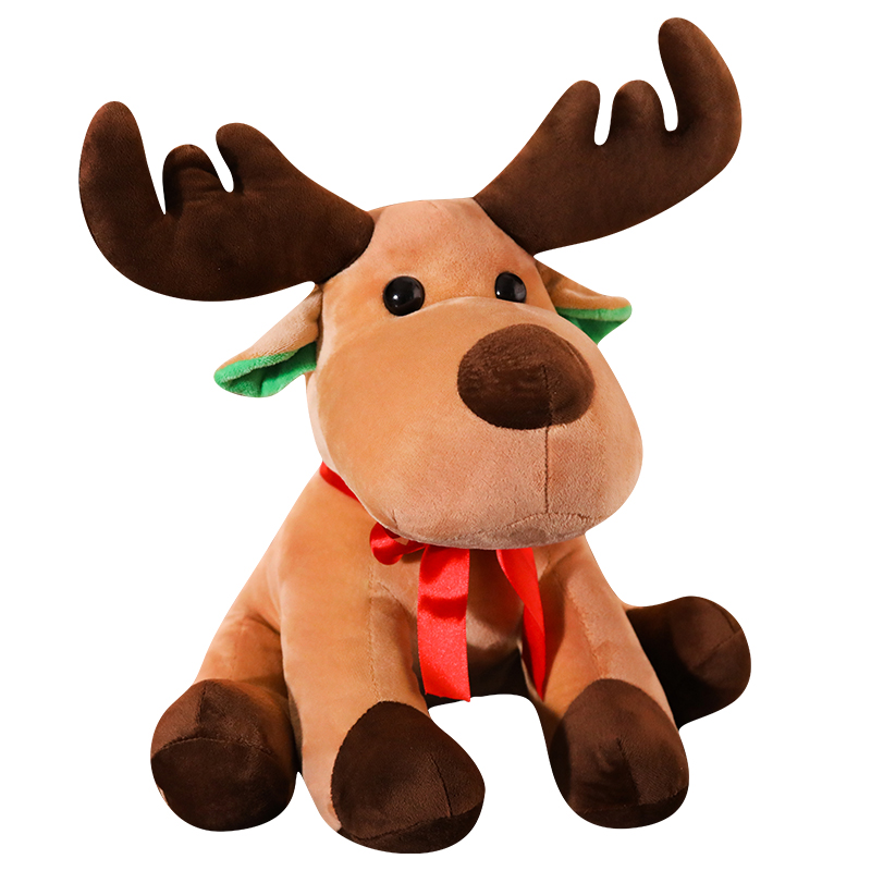 New Hot Lovely 25cm Cute Christmas Elk Plush Toys Stuffed Soft Deer Gift Doll for Kids Children Xmas Home Decoration Ornaments