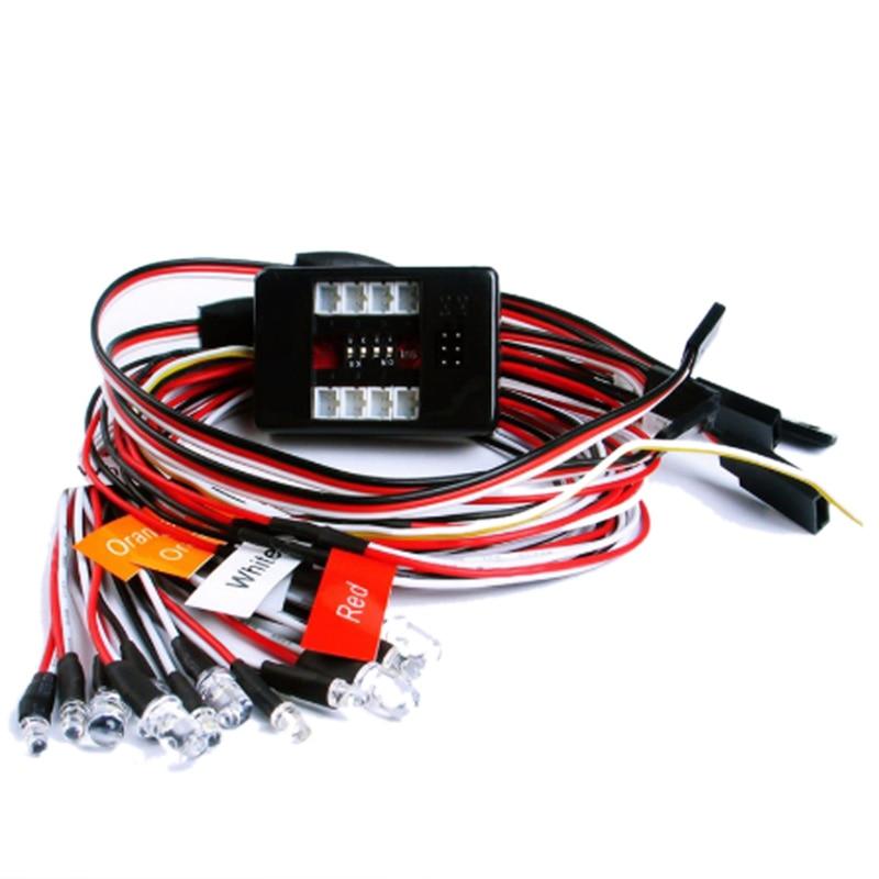 1:10 RC Model Car Truck LED Light Kit 12 LED Flashing Head Light Lamp System RC 1:10 Model Car Accessories
