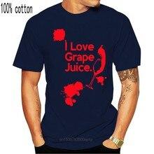 Eu amo suco de uva-camisa masculina-álcool de vinho engraçado-13 cores t camisa de algodão masculina manga curta camisetas estilo preto