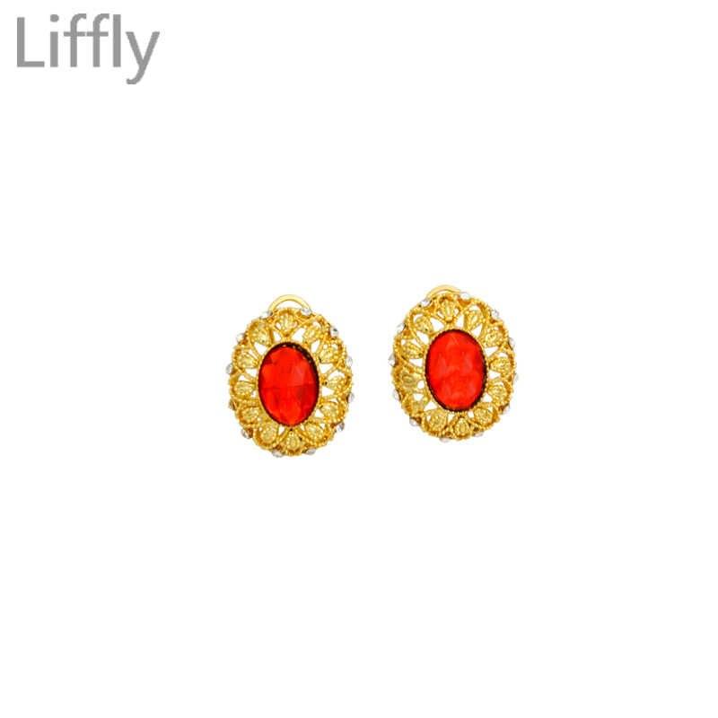 אירופאי יוקרה אופנה חתונת תכשיטי סטי 24 זהב שרשרת טבעת עגילי קסם הכלה AAA קריסטל צמיד מתנות אבזר