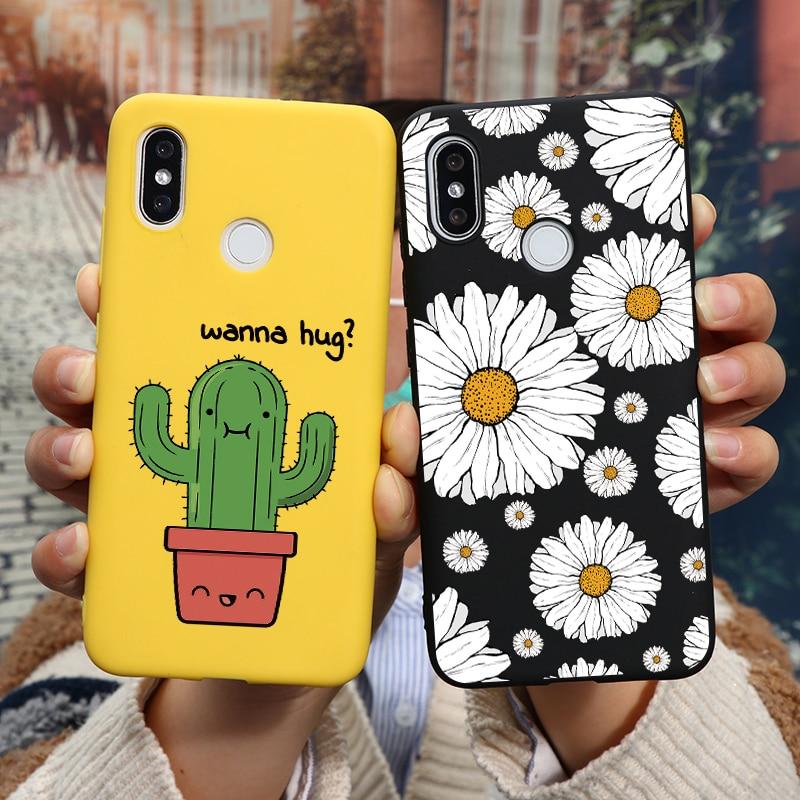 Daisy Cactus Cover Case For Huawei P30 P40 P20 Mate 20 30 Lite E Pro P Smart Z Y6 Y7 Y9 Pro Prime 2019 2018 Case Soft TPU Flower