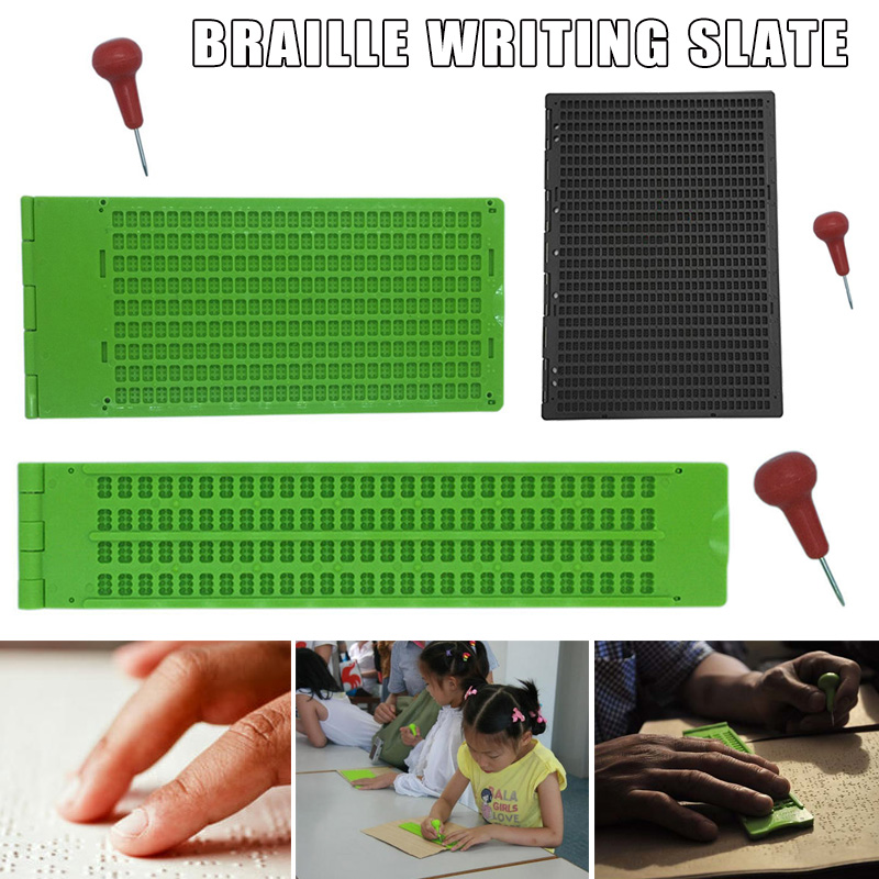9 Lines 30 Cells/4 Lines 28 Cells/27 Line 30 Cells Braille Writing Slate With Stylus QJY99