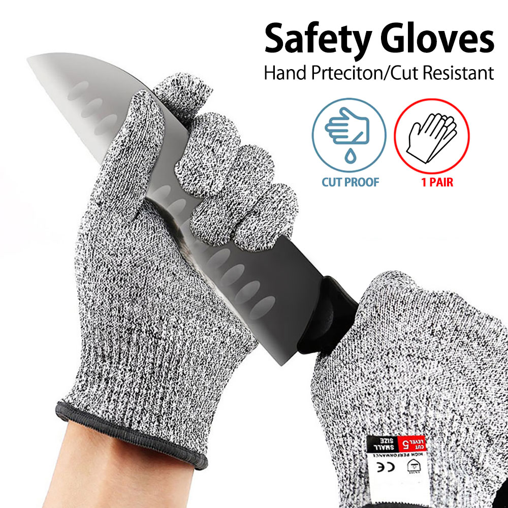 Kitchen Cutting Gloves High-strength Grade Level 5 Protection Safety Anti Cut Gloves Resistant For Fish Meat Cutting Gloves