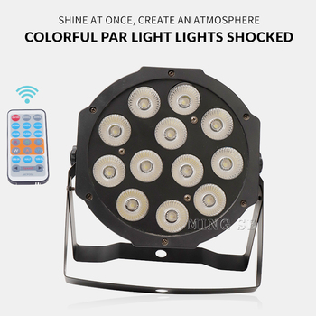 Fast Shipping 12x12w Remote flat par led Flat White Led Par Light 12*12W Smooth RGBW Color Mixing DMX 4/8 Channels Stage Wash freeshipping 2xlot white shell battery wireless 6 18w flat led par light rgbwa uv 6in1 color mixing dmx 6 10 channels remote