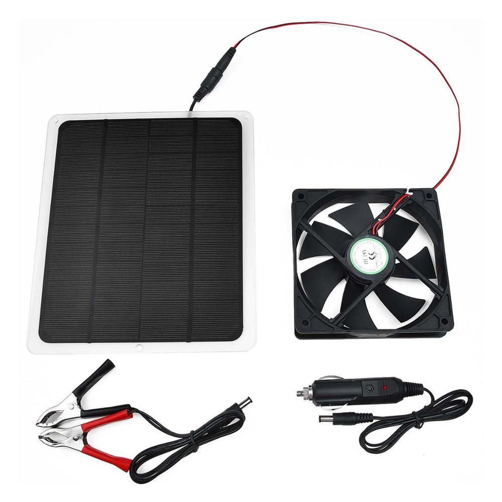 Держит воздух чистым 10 Вт на солнечных батареях USB вентилятор мини вентилятор для теплицы домашних животных/собак куриный дом панели на солнечных батареях портативный|Вентиляция|   | АлиЭкспресс